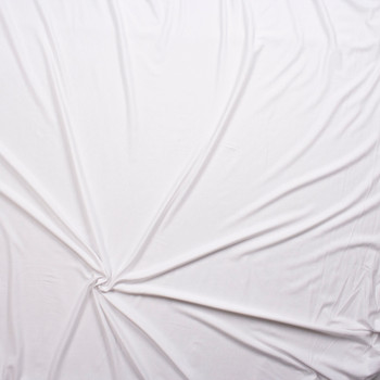 White Rayon/Spandex Lightweight Stretch Jersey Knit Fabric By The Yard - Wide shot