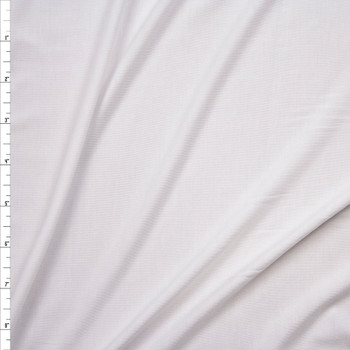 White Lightweight Stretch Modal Jersey Knit Fabric By The Yard