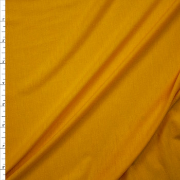 Bright Goldenrod Lightweight Poly/Rayon Jersey Fabric By The Yard