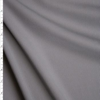 Grey Heavy Stretch Ribbed Knit Fabric By The Yard