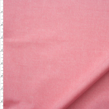 Pink Midweight Cotton Chambray Fabric By The Yard