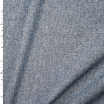 Indigo Lightweight Cotton Chambray Fabric By The Yard
