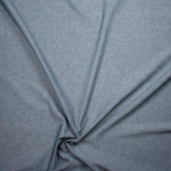 Indigo Lightweight Cotton Chambray Fabric By The Yard - Wide shot
