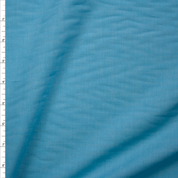 Aqua Lightweight Cotton Chambray Fabric By The Yard
