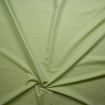 Avocado Green Lightweight Cotton Chambray Fabric By The Yard - Wide shot