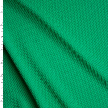 Solid Green Bullet Liverpool Knit Fabric By The Yard