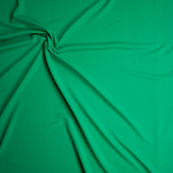 Solid Green Bullet Liverpool Knit Fabric By The Yard - Wide shot