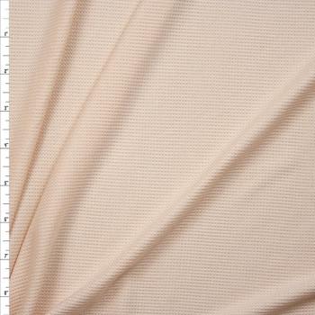 Vanilla Rayon Micro Waffle Knit Fabric By The Yard