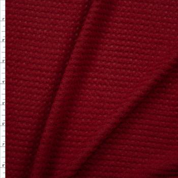 Wine Brushed Soft Waffle Sweater Knit Fabric By The Yard