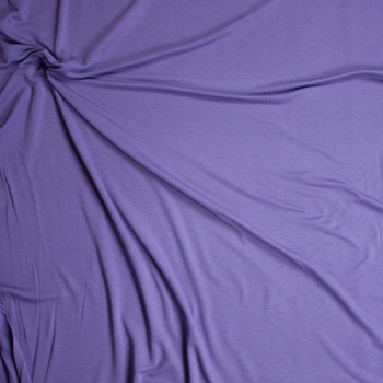 Dusty Lilac Poly/Rayon French Terry Fabric By The Yard - Wide shot