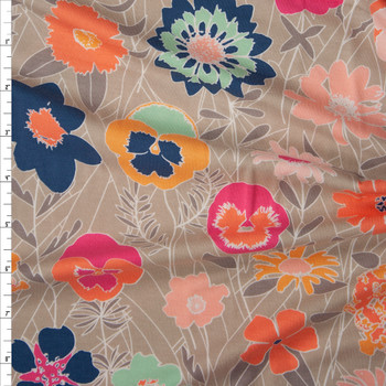 """""""Curiosities K-19130"""" Cotton Spandex Knit from Art Gallery Fabrics Fabric By The Yard"""