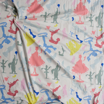 """""""Porcelains Prism"""" Cotton Spandex Knit from Art Gallery Fabrics Fabric By The Yard - Wide shot"""