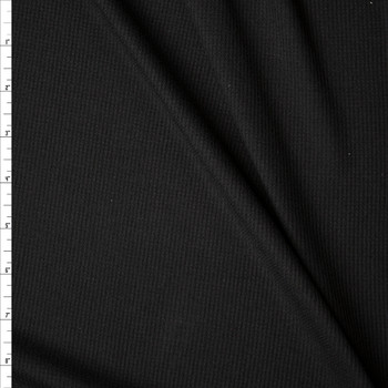 Black Rayon Micro Waffle Knit Fabric By The Yard