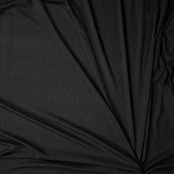 Black Rayon Micro Waffle Knit Fabric By The Yard - Wide shot