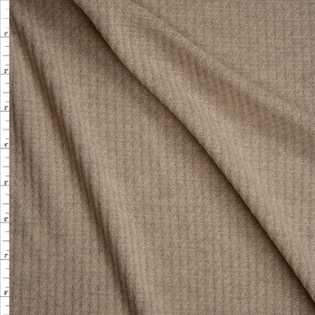 Oatmeal Soft Waffle Knit Fabric By The Yard