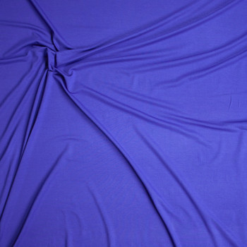 Royal Blue Stretch Tencel Jersey Knit Fabric By The Yard - Wide shot