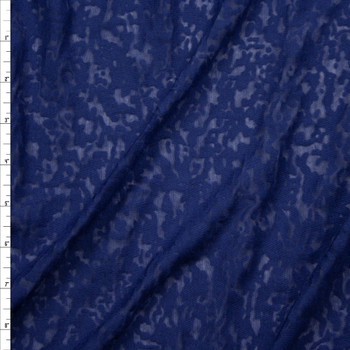 Navy Blue Burnout Jersey Knit Fabric By The Yard