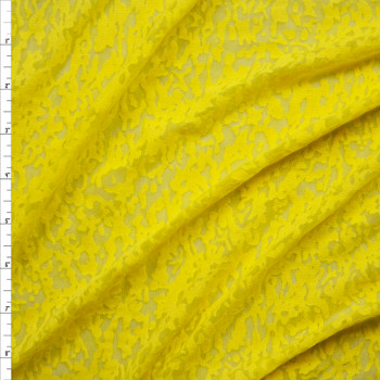 Bright Yellow Burnout Jersey Knit Fabric By The Yard