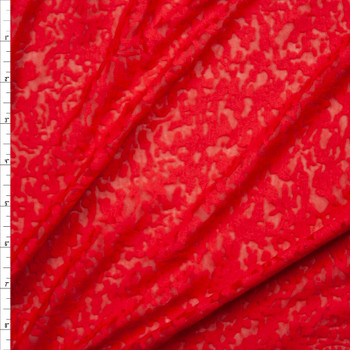 Red Burnout Jersey Knit Fabric By The Yard