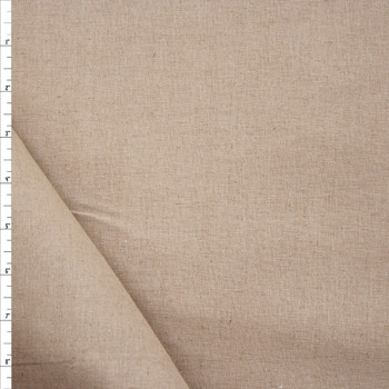 Natural Tan Midweight Cotton/Linen Blend Fabric By The Yard