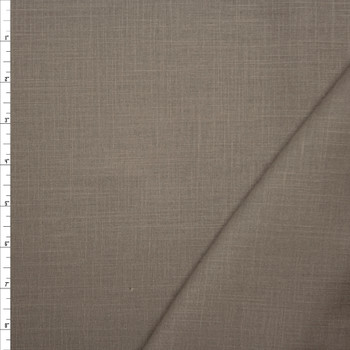 Taupe Midweight Rayon/Linen Blend Fabric By The Yard