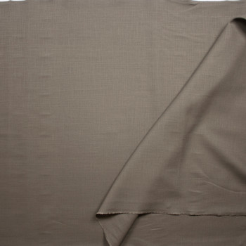 Taupe Midweight Rayon/Linen Blend Fabric By The Yard - Wide shot