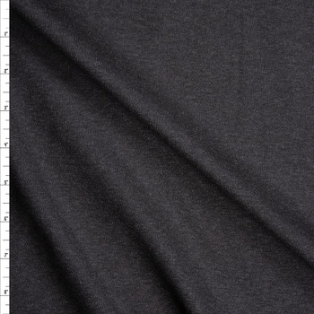 Dark Charcoal Designer Ponte De Roma Fabric By The Yard