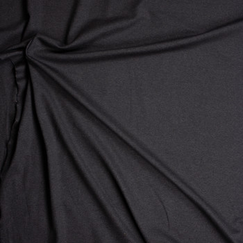 Dark Charcoal Designer Ponte De Roma Fabric By The Yard - Wide shot