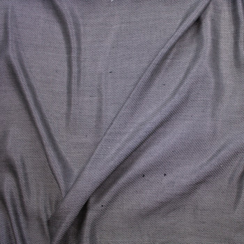 Grey Diagonal Weave Suiting Fabric By The Yard - Wide shot