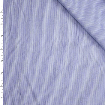 Light Blue and White Narrow Stripe Shirting Fabric By The Yard