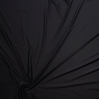 Black Closeout Rayon Jersey Knit Fabric By The Yard - Wide shot