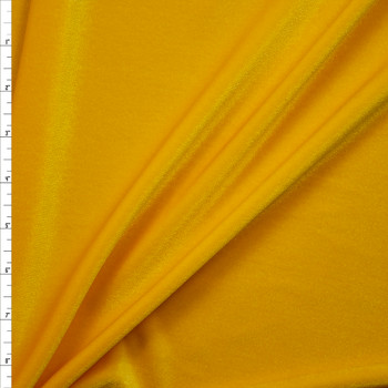 Bright Yellow 4-way Stretch Velvet Fabric By The Yard