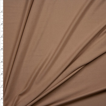 Sand Double Brushed Poly Spandex Knit Fabric By The Yard