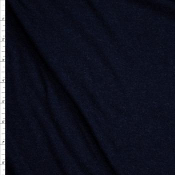 Navy Blue Stretch Wool Jersey Knit Fabric By The Yard