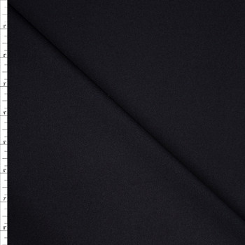 Black Double Scuba Knit Fabric By The Yard