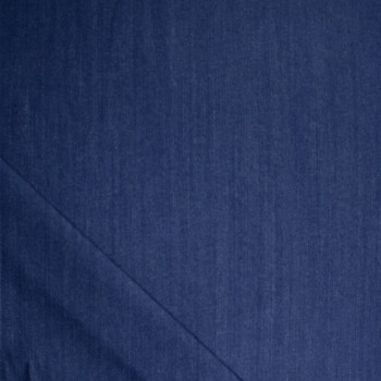 Blue Designer 11oz Stretch Denim Fabric By The Yard - Wide shot