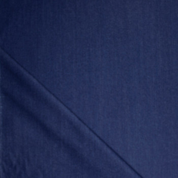 Blue Designer 12oz Denim Fabric By The Yard - Wide shot