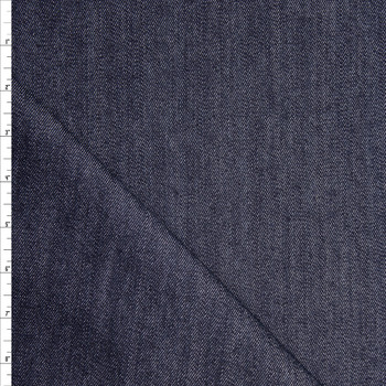 Dark Indigo Blue Designer 10oz Stretch Denim Fabric By The Yard