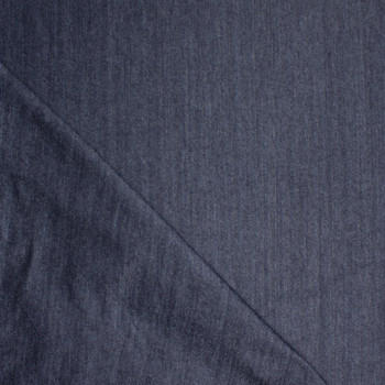 Dark Indigo Blue Designer 10oz Stretch Denim Fabric By The Yard - Wide shot