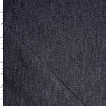 Dark Blue Designer 9oz Textured Stretch Denim Fabric By The Yard