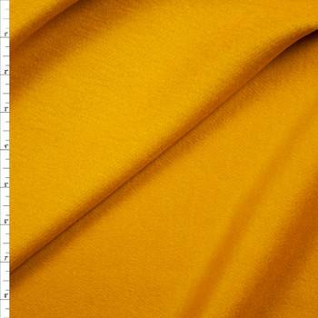 Mustard Wool Melton Coating Fabric By The Yard