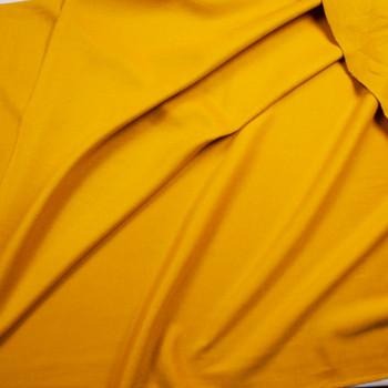 Mustard Wool Melton Coating Fabric By The Yard - Wide shot
