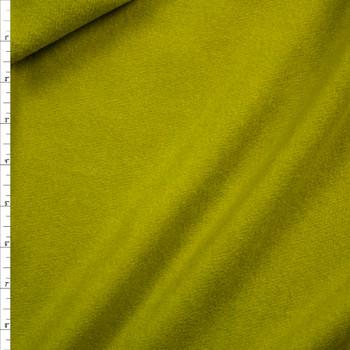 Avocado Green Wool Melton Coating Fabric By The Yard