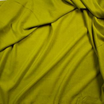 Avocado Green Wool Melton Coating Fabric By The Yard - Wide shot