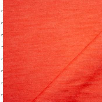 Orange 12oz Designer Denim Fabric By The Yard