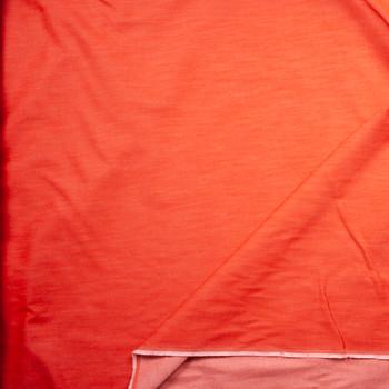 Orange 12oz Designer Denim Fabric By The Yard - Wide shot