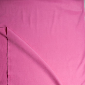 Solid Pink Designer Wool Coating Fabric By The Yard - Wide shot