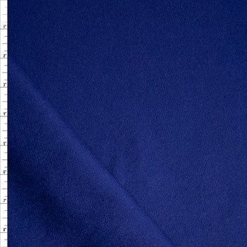 Solid Navy Blue Designer Wool Coating Fabric By The Yard
