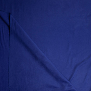 Solid Navy Blue Designer Wool Coating Fabric By The Yard - Wide shot