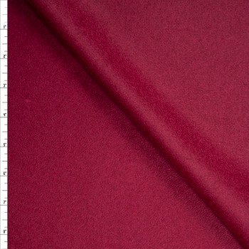 Solid Burgundy Designer Wool Coating Fabric By The Yard